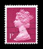 Queen Elizabeth II - Decimal Machin, serie, circa 1986. MOSCOW, RUSSIA - FEBRUARY 9, 2019: A stamp printed in Great Britain shows Queen Elizabeth II - Decimal stock photos