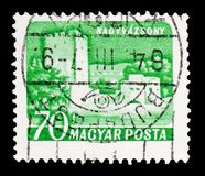 Nagyvazsony, Castles (1960-64) serie, circa 1960. MOSCOW, RUSSIA - FEBRUARY 10, 2019: A stamp printed in Hungary shows Nagyvazsony, Castles (1960 royalty free stock photo