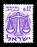 Zodiac: Libra, Zodiac Signs serie, circa 1961. MOSCOW, RUSSIA - FEBRUARY 10, 2019: A stamp printed in Israel shows Zodiac: Libra, Zodiac Signs serie, circa 1961 royalty free stock photo