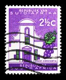Groot Constantia, Definitive Issue - Decimal Issue serie, circa 1961. MOSCOW, RUSSIA - FEBRUARY 10, 2019: A stamp printed in South Africa shows Groot Constantia stock photo