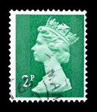 Queen Elizabeth II - Decimal Machin - Normal Perforations serie, circa 1979. MOSCOW, RUSSIA - FEBRUARY 14, 2019: A stamp printed in United Kingdom shows Queen royalty free stock images