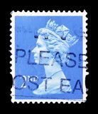 Queen Elizabeth II - Decimal Machin, Syncopated Perforations serie, circa 2003. MOSCOW, RUSSIA - FEBRUARY 14, 2019: A stamp printed in United Kingdom shows Queen stock photography
