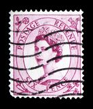 Queen Elizabeth II - Predecimal Wilding serie, circa 1960. MOSCOW, RUSSIA - FEBRUARY 14, 2019: A stamp printed in United Kingdom shows Queen Elizabeth II royalty free stock image