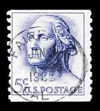 George Washington (1732-1799), 1961-1966 Regular Issue serie, circa 1963 stock photography