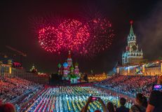 Moscow, Russia - 08.24.2018 - 09.02.2018: Festival Spasskaya Tow Royalty Free Stock Photo