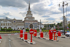 MOSCOW, RUSSIA - 17.06.2015. Free Parking near Kazansky railway station Royalty Free Stock Image