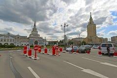 MOSCOW, RUSSIA - 17.06.2015. Free Parking near Kazansky railway station Stock Photo