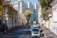 MOSCOW, RUSSIA - 21.09.2015. Great Znamensky Lane - Ancient Street Royalty Free Stock Photography