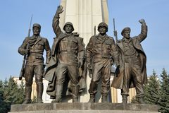Combat Allies - Monument at Victory Park - WWII Memorial Complex Stock Image