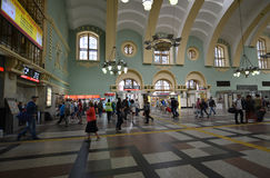 MOSCOW, RUSSIA - 17.06.2015. The interior of  Kazansky  railway station. Built in 1862. Stock Image