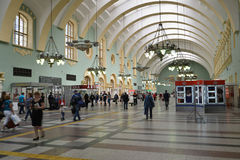 MOSCOW, RUSSIA - 17.06.2015. The interior of  Kazansky  railway station. Built in 1862. Stock Photography