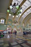 MOSCOW, RUSSIA - 17.06.2015. The interior of  Kazansky  railway station. Built in 1862. Royalty Free Stock Images