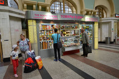 MOSCOW, RUSSIA - 17.06.2015. The interior of  Kazansky  railway station. Built in 1862. Stock Images