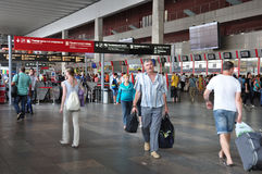 MOSCOW, RUSSIA - 15.06.2015. The interior of  Kursk railway station Royalty Free Stock Images