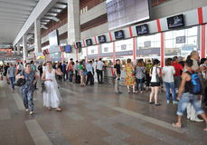 MOSCOW, RUSSIA - 15.06.2015. The interior of  Kursk railway station Stock Photo