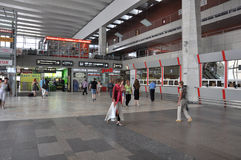 MOSCOW, RUSSIA - 15.06.2015. The interior of  Kursk railway station Royalty Free Stock Image