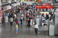 MOSCOW, RUSSIA - 15.06.2015. The interior of  Kursk railway station Stock Photography