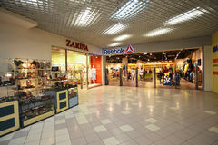 MOSCOW, RUSSIA - 04.20.2015. Interior large shopping center Ladia in Mitino Stock Photo
