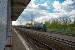 Moscow, Russia - Istra train station stock images