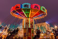 Moscow, Russia - January 05, 2018: Christmas carousel on Red Squ Royalty Free Stock Images