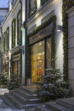Moscow, Russia - January 17, 2015. The facades of boutiques Stock Images