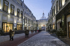 Moscow, Russia - January 17, 2015. The facades of boutiques Stock Image