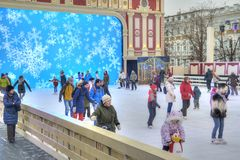 Ice Theater in Novopushkinsky Square. Moscow Royalty Free Stock Photo
