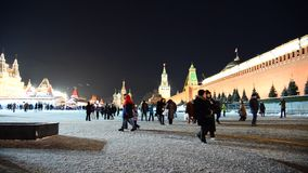Moscow, Russia - January 15 2015 Red Square at stock footage