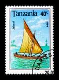Jahazi, Sailing ships serie, circa 1994 Royalty Free Stock Image