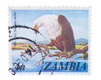 MOSCOW, RUSSIA - JANUARY 22, 2016: A stamp printed in Zambia sho Stock Photo
