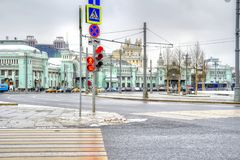 City of Moscow. The Tverskaya Zastava Square stock photos