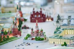 Huge layout of Moscow Stock Photography