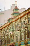 Chinese Pagoda - Tea House on Myasnitskaya Street in Moscow. Fragment of the facade. Vertical phot stock image