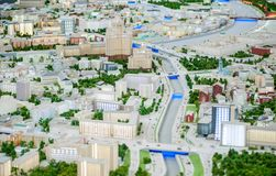 Huge layout of Moscow Stock Photos