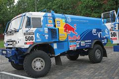 MOSCOW, RUSSIA - JULY 11: Kamaz Master driver Stock Photography