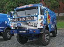 MOSCOW, RUSSIA - JULY 11: Kamaz Master driver Royalty Free Stock Photo