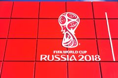 Logo of FIFA World Cup Russia 2018 Stock Photography