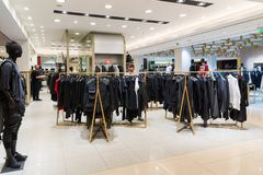 Moscow, Russia - July 25.2017. Mens clothing in store TSUM Stock Image