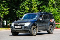 Mitsubishi Pajero. Moscow, Russia - July 7, 2012: Off-road vehicle Mitsubishi Pajero in the city street Stock Images