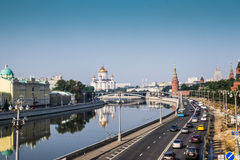 Moscow, Russia - July 2016. Panoramic view to Moscow Kremlin. Stock Photo