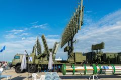 Moscow, Russia - July 24. 2017. Self-propelled radar systems at International Aviation and Space salon MAKS-2015 Royalty Free Stock Photography