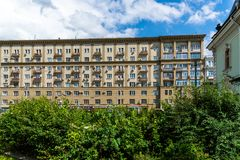 Moscow, Russia - July 24. 2017. Stalin house at Prospect Mira Street 46. Moscow, Russia - July 24. 2017. Stalin's house at Prospect Mira Street 46 Royalty Free Stock Image
