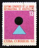 MOSCOW, RUSSIA - JULY 15, 2017: A stamp printed in Cuba shows em stock photo