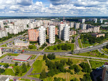 Moscow, Russia - July 20.2017. Top view of Zelenograd administrative district Stock Photography
