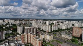 Moscow, Russia - July 20.2017. Top view of Zelenograd administrative district stock footage