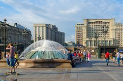 Manezhnaya square. Four Seasons Hotel Moscow 5* formerly - Moscow Hotel, Russia Stock Photography