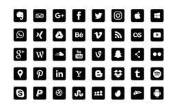 Free Moscow, Russia - June 20, 2017: Set Of Popular Social Media Logos: Instagram, Facebook, Twitter, Youtube, WhatsApp, LinkedIn, Pint Stock Images - 121925164