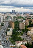 Aerial view to Begovaya street near Central Moscow hippodrome Stock Photo