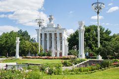 Moscow, Russia - June 24, 2019: Armenia pavilion at VDNH in Moscow.  royalty free stock photos