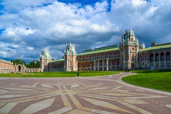 Moscow, Russia - June 08, 2016. The central square in museum estate of Tsaritsyno Royalty Free Stock Photos